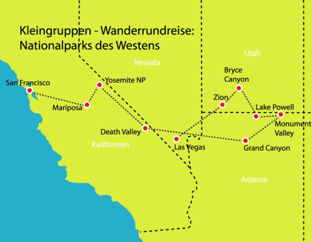 Kleingruppen Wanderrundreise Nationalparks des Westens