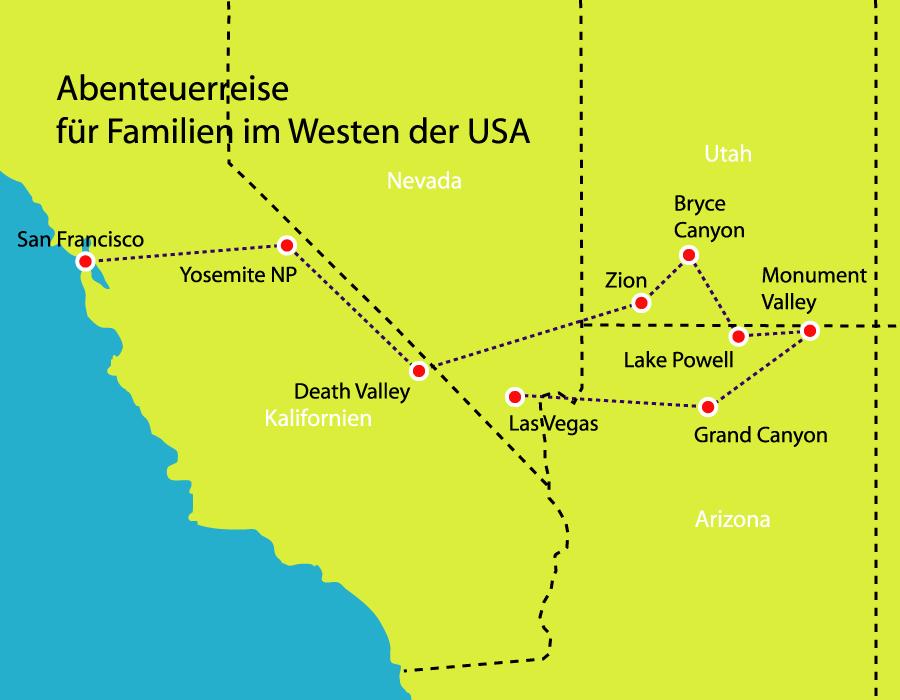 Kleingruppenreise Abenteuerreise für Familien im Westen der USA