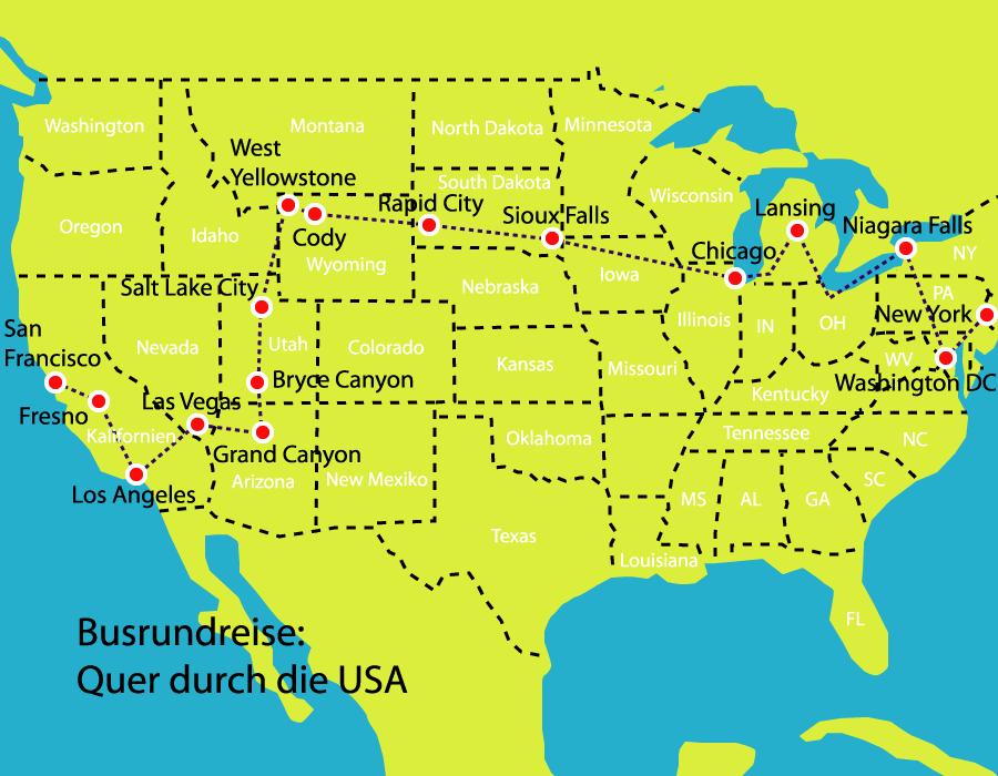 Quer durch die USA