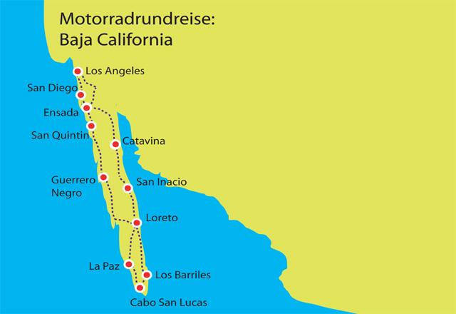 Motorradrundreise Baja California