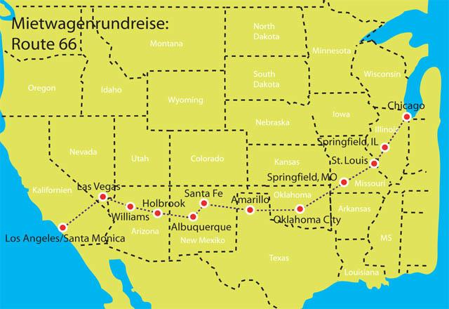 Route 66 - Rundreise