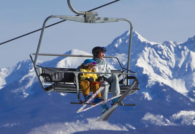Skilift Vater Sohn